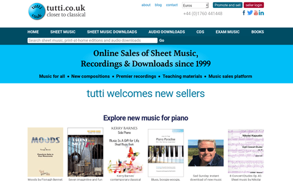 screenshot of tutti.co.uk